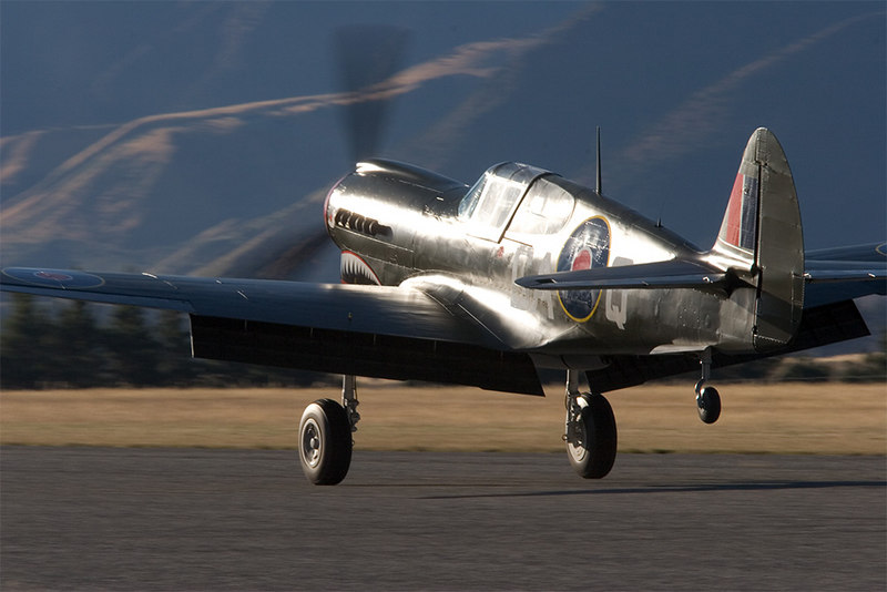 Kittyhawk takes off into the sun.