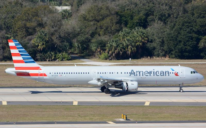 Date:  2/11/16 - Location:  KTPA<br /> Dep/Arv/Enr:  Arv - RW/Taxi/Ramp:  RW01L<br /> Manufacturer:  Airbus <br /> Model:  A321-211 - Reg/Nmb:  N172US<br /> C/N:  1472<br /> Misc: