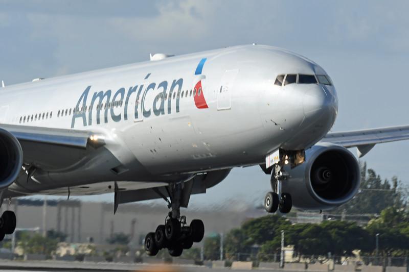 Date:  2/9/18 - Location:  KMIA<br /> Dep/Arv/Enr:  Arv - RW/Taxi/Ramp:  RW12<br /> Manufacturer:  Boeing<br /> Model:  B777-223ER - C/N:  30255 - RegNmb:  N793AN<br /> Nose Art/Livery:<br /> Misc:
