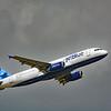 """Date:  5/27/16 - Location:  KMCO<br /> Dep/Arv/Enr:  Dep - RW/Taxi/Ramp:  RW36R<br /> Manufacturer:  Airbus<br /> Model:  A320-232 - Reg/Nmb:  N568JB<br /> C/N:  2063<br /> Misc:  """"Blue Sapphire"""""""