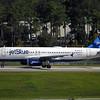 "Date:  10/02/16 - Location:   KMCO<br /> Dep/Arv/Enr:  Arv - RW/Taxi/Ramp:  Taxi Juliet<br /> Manufacturer:  Airbus<br /> Model:  A320-232 - RegNmb:  N655JB - C/N: 3072<br /> Misc:  ""Blue 100"""