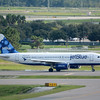 """Date:  10/3/14 - Location:  KMCO<br /> Dep/Arv/Enr:  Arv - RW/Taxi/Ramp:  Taxi Foxtrot <br /> Manufacturer:  Airbus <br /> Model:  A320-232 - Reg/Nmb:  N504JB<br /> Misc:  """"Shades of Blue"""""""