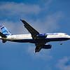 """Date:  5/13/16 - Location:  KMCO<br /> Dep/Arv/Enr:  Arv - RW/Taxi/Ramp:  RW18R<br /> Manufacturer:  Airbus<br /> Model:  A320-232 - Reg/Nmb:  N584JB<br /> C/N:  2149<br /> Misc:  """"Blue Fox"""""""