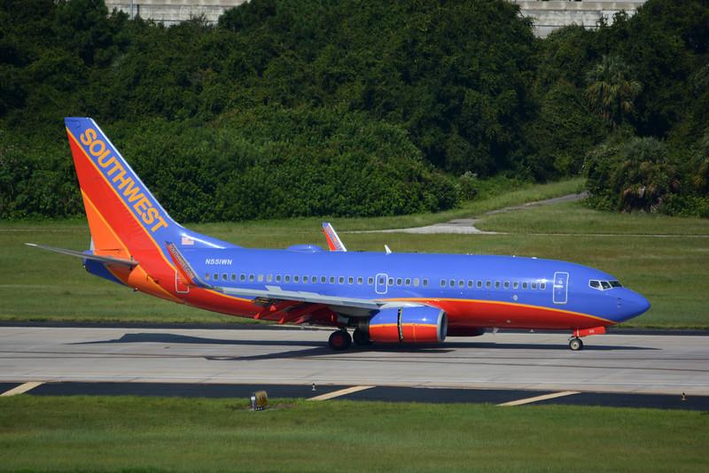 Date:  8/10/15 - Location:  KTPA<br /> Dep/Arv/Enr:  Arv - RW/Taxi/Ramp:  RW01L<br /> Manufacturer:  Boeing<br /> Model:  B737-76Q - Reg/Nmb:  N551WN<br /> Misc: