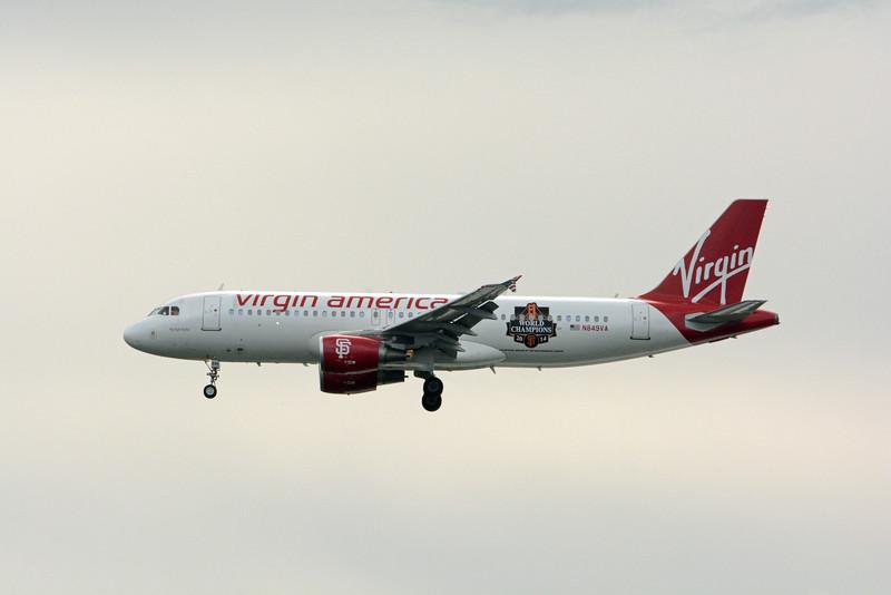 "Date:  7/15/15 - Location:  KMCO<br /> Dep/Arv/Enr:  Arv - RW/Taxi/Ramp:  RW18R<br /> Manufacturer:  Airbus <br /> Model:  A320-214 - Reg/Nmb:  N849VA<br /> Misc:  ""fly bye baby"""