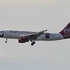 "Date: 6/19/13 - Location: KMCO<br /> Dep/Arv/Enr: Arv - RW/Taxi/Ramp: RW18R<br /> Manufacturer: Airbus<br /> Model: A320-214 - Reg/Nmb: N849VA<br /> Misc: ""fly bye baby"""
