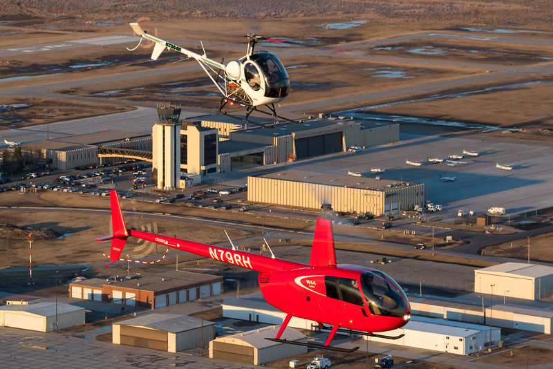 UND Aerospace airport campus in the background