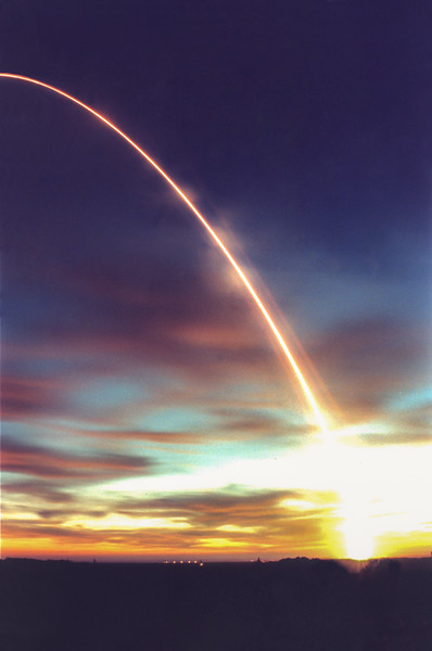 Beoing Delta II launches Iridium MS-5 from Vandenberg AFB. CA. 11-9-1997