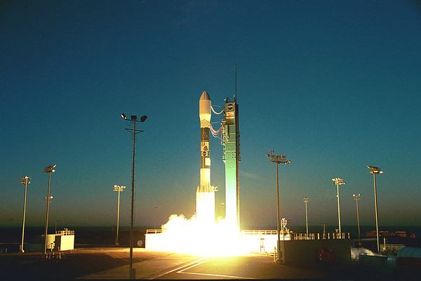 Boeing Delta ll launched Jason-Timed from Vandenberg AFB. CA. 12-07-2001