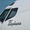 """Date:  2/8/18 - Location:  KFLL<br /> Manufacturer:  Boeing<br /> Model:  B727-247 - Nose Art:  """"Stephanie""""<br /> C/N:  21329 - RegNmb:  N235FE<br /> MIsc:  Former Fed Ex"""