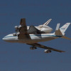 NASA905/Endeavour does a flyby at Dryden, Edwards AFB Sept.20,2012.