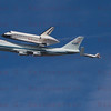NASA905/Endeavour and  NASA F-18's flyby over Los Angeles, CA Sept. 21, 2011