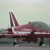 Date: 1984 - Location: EGUN<br /> Dep/Arv/Enr: n/a - RW/Taxi/Ramp: n/a<br /> Manufacturer: BAe<br /> Model: Hawk T.1 - Ser/BuNo: unknown<br /> Unit: Red Arrows<br /> Misc: n/a