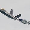 Date:  9/21/12 - Location:  Cocoa Beach, FL<br /> Manufacturer:  Lockheed Martin/North American<br /> Aircraft:  F-22A/P-51D<br /> Mil Reg:  01-4020/44-74502 - Civ Reg:  n/a/N351DT<br /> Misc: