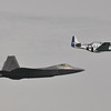 Date:  9/22/12 - Location:  Cocoa Beach, FL<br /> Manufacturer:  Lockheed Martin/North American<br /> Aircraft:  F-22A/P-51D<br /> Mil Reg:  01-4020/44-74502 - Civ Reg:  n/a/N351DT<br /> Misc: