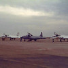 Date:  1980 -  Location:  KSPS<br /> Dep/Arv/Enr:  Arv - RW/Taxi/Ramp:  transient ramp<br /> Manufacturer:  Northrop/Lockheed<br /> Aircraft:  T-38/T-33 - Ser/BuNo:  various<br /> Unit:  unknown<br /> Misc: