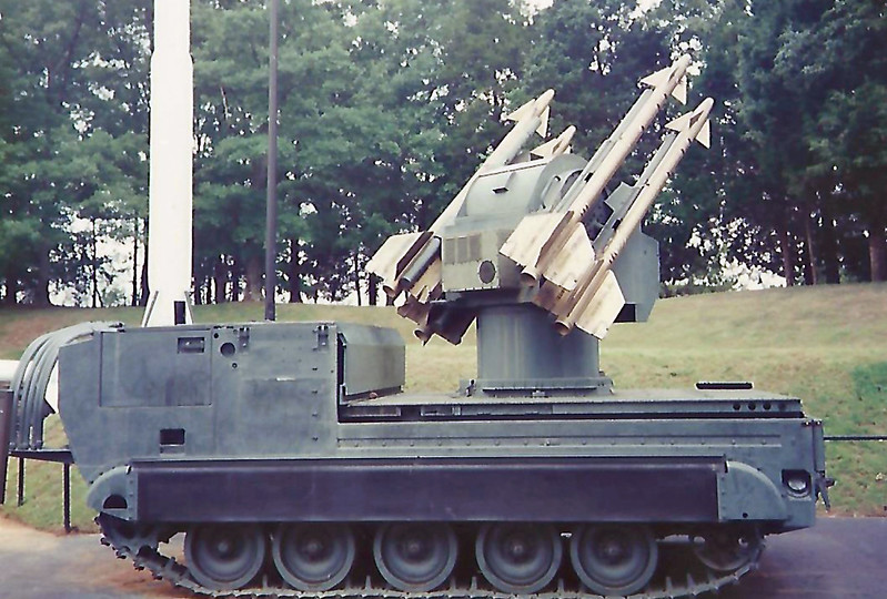 Date:  unknown - Location:  Huntsville, AL<br /> Manufacturer:  Ford/Loral Aerospace Corporation<br /> Model:  MIM-72<br /> Mil Reg:  unknown - Civ Reg:  n/a<br /> Markings:  none<br /> Misc:  four inert missiles located on the M48 transporter/launcher