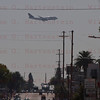 OV-105 Endeavour Crenshaw Blvd. in Inglewood, CA. with a Lufthansa 747 landing at LAX Oct. 13, 2012
