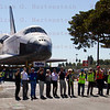 OV-105 Endeavour makes her arrival to the California Science Center. Oct. 14, 2012