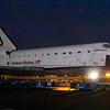 OV-105 Endeavour in parking lot on La Tijera Blvd. at Sepulveda East Way. Oct. 12, 2012