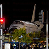 OV-105 Endeavour departs LAX heads up La Tijera Blvd. at Sepulveda Blvd. Oct. 12, 2012