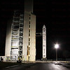 Minotaur IV Tacsat 4 Tower rollback Sept. 27, 2011