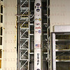 Minotaur IV TacSat4 tower rollback Sept. 27, 2011