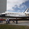 NASA Photographers capture last  VAB rollover of STS-132 Atlantis rollover to VAB from OPF-1 04-13-2010