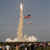 STS-133 Discovery launches on its last Mission 02-24-2011 while News Media watches.