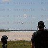 PhotographerGene Blevins watches NASA T-38 Land during remote cameras setup to capture the STS-134 Landing. May 31, 2011
