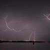 STS-134 Endeavour on Pad during lightning stor.<br /> Taken at Press Site April 28, 2011