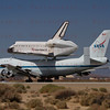 NASA905/Endeavour's Nose Geartouches down at  Edwards AFB.  12:51pm PDT Sept.20, 2012