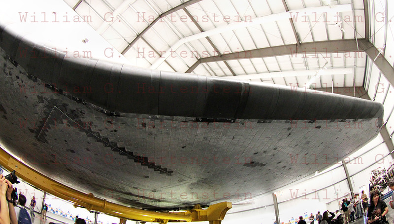 Endeavour's Grand Opening at California Science Center, Lefthand Leading Edge and Wing, Oct. 30, 2012