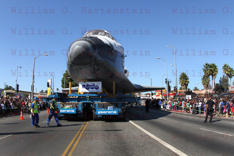OV-105 Endeavour on Martin Luther King & Vermont, CA. Oct. 14, 2012
