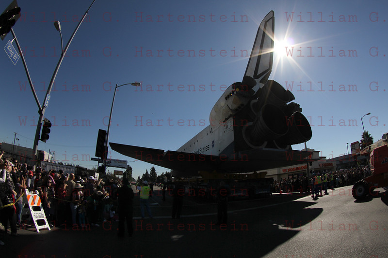 Endeavour on Martin Luther King & Vermont, CA. Oct. 14, 2012