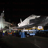 OV-105 Endeavour at the Baldwin Hills Crenshaw Plaza, CA. Prepare to reconfigure transporter Oct. 13, 2012