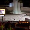 OV-105 Endeavour on Crenshaw Blvd. arrives at the Baldwin Hills Crenshaw Plaza, CA. Oct. 13, 2012