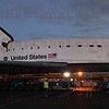 OV-105 Endeavour in parking lot on La Tijera Blvd. at Sepulveda East Way. Oct. 12, 2012. Panorama