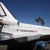 OV-105 Endeavour turns off Manchester Blvd. and heads up Crenshaw Dr. in Inglewood, CA. Oct. 13, 2012