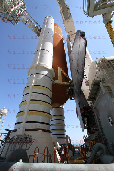 STS-134 Endeavour on Pad 39A after Rollout March 11