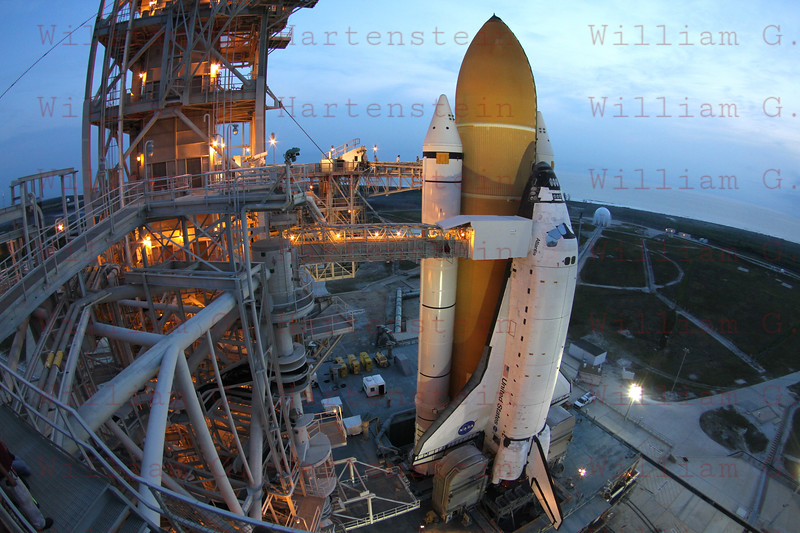STS-135 Atlantis on Pad 39A for the last time June 1, 2011