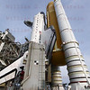 STS-135 Atlantis on Pad 39A after rollout June 1, 2011