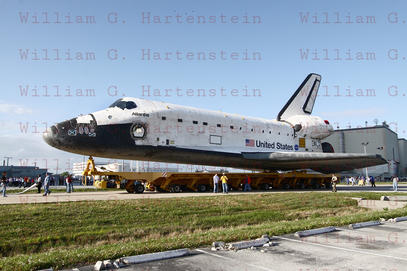 STS-132 Atlantis rollover to VAB on 04-13-2010
