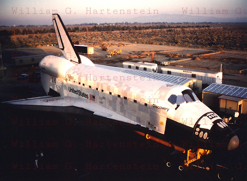 28 years ago on Nov. 5, 1983 Space Shuttle Discovery rolls out of its Hanger in Palmdale, CA. for the overland trip to Edwards AFB where it would be lifted atop the NASA/747 for its trip to Kennedy Space Center.