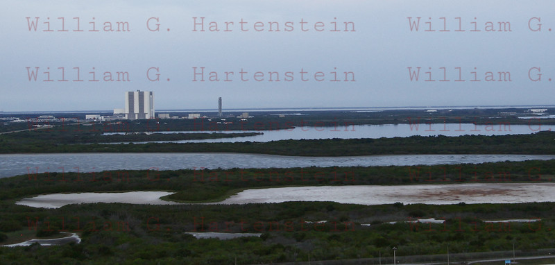 STS-134 Endeavour during towback after landing June 1, 2011 taken from Pad 39A