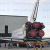 STS-134 Endeavour makes the milestone move from the Orbiter Processing Facility bay No. 2 to the adjacent Vehicle Assembly Building for the final time. <br /> STS-134 moves from OPF-2 to VAB for the final time Feb. 28, 2011
