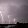 STS-134 Lightning hits between Pads 39B and 39A April 28, 2011
