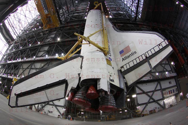 STS-135 Atlantis final VAB lift to mate May 18, 2011
