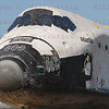 "CAPE CANAVERAL, Fla. -- Shuttle Atlantis makes its final planned move, or rollover, into the Vehicle Assembly Building (VAB) from Orbiter Processing Facility-1 at NASA's Kennedy Space Center in Florida. The move called ""rollover"" is a major milestone in processing for the STS-135 mission to the International Space Station. Inside the VAB, the shuttle will be attached to its external fuel tank and solid rocket boosters. Commander Chris Ferguson, Pilot Doug Hurley and Mission Specialists Sandra Magnus and Rex Walheim are targeted to launch in early July, taking with them the Raffaello multipurpose logistics module packed with supplies, logistics and spare parts."