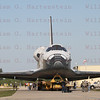 STS-135 Atlantis during roll out from OPF to VAB for the last time May 17, 201